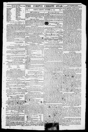 Primary view of object titled 'The Corpus Christi Star. (Corpus Christi, Tex.), Vol. 1, No. 5, Ed. 1, Tuesday, October 10, 1848'.