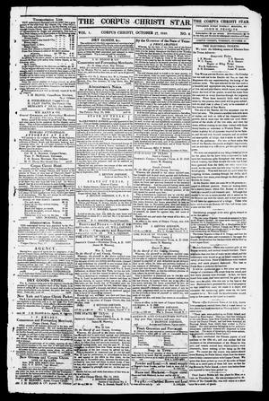 Primary view of object titled 'The Corpus Christi Star. (Corpus Christi, Tex.), Vol. 1, No. 6, Ed. 1, Tuesday, October 17, 1848'.
