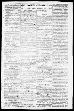 Primary view of object titled 'The Corpus Christi Star. (Corpus Christi, Tex.), Vol. 1, No. 7, Ed. 1, Tuesday, October 24, 1848'.