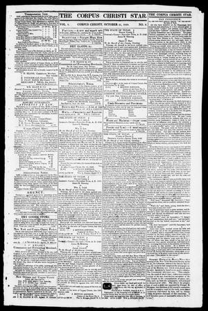 Primary view of object titled 'The Corpus Christi Star. (Corpus Christi, Tex.), Vol. 1, No. 8, Ed. 1, Tuesday, October 31, 1848'.