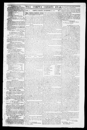 Primary view of object titled 'The Corpus Christi Star. (Corpus Christi, Tex.), Vol. 1, No. 10, Ed. 1, Tuesday, November 14, 1848'.