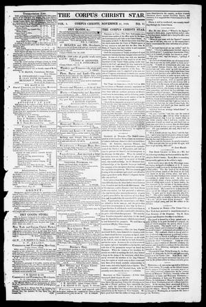 Primary view of object titled 'The Corpus Christi Star. (Corpus Christi, Tex.), Vol. 1, No. 11, Ed. 1, Tuesday, November 21, 1848'.