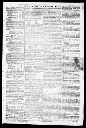 Primary view of object titled 'The Corpus Christi Star. (Corpus Christi, Tex.), Vol. 1, No. 12, Ed. 1, Tuesday, November 28, 1848'.