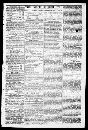 Primary view of object titled 'The Corpus Christi Star. (Corpus Christi, Tex.), Vol. 1, No. 13, Ed. 1, Tuesday, December 5, 1848'.