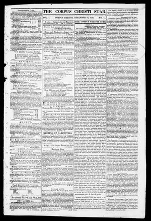 Primary view of object titled 'The Corpus Christi Star. (Corpus Christi, Tex.), Vol. 1, No. 14, Ed. 1, Saturday, December 16, 1848'.