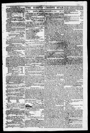 Primary view of object titled 'The Corpus Christi Star. (Corpus Christi, Tex.), Vol. 1, No. 15, Ed. 1, Saturday, December 23, 1848'.