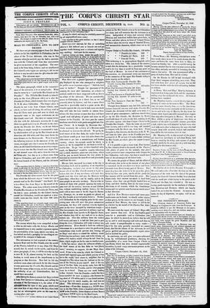 Primary view of object titled 'The Corpus Christi Star. (Corpus Christi, Tex.), Vol. 1, No. 16, Ed. 1, Saturday, December 30, 1848'.
