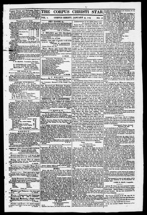 Primary view of object titled 'The Corpus Christi Star. (Corpus Christi, Tex.), Vol. 1, No. 17, Ed. 1, Saturday, January 13, 1849'.