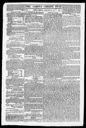 Primary view of object titled 'The Corpus Christi Star. (Corpus Christi, Tex.), Vol. 1, No. 18, Ed. 1, Saturday, January 20, 1849'.