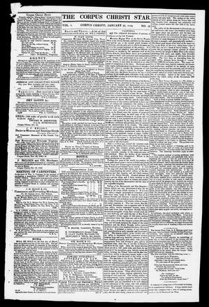 Primary view of object titled 'The Corpus Christi Star. (Corpus Christi, Tex.), Vol. 1, No. 19, Ed. 1, Saturday, January 27, 1849'.