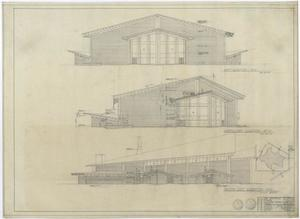 Primary view of object titled 'University Baptist Church Auditorium, Abilene, Texas: Three Elevations'.