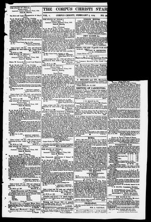 Primary view of object titled 'The Corpus Christi Star. (Corpus Christi, Tex.), Vol. 1, No. 20, Ed. 1, Saturday, February 3, 1849'.