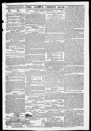 Primary view of The Corpus Christi Star. (Corpus Christi, Tex.), Vol. 1, No. 21, Ed. 1, Saturday, February 10, 1849
