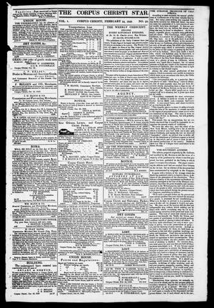 Primary view of object titled 'The Corpus Christi Star. (Corpus Christi, Tex.), Vol. 1, No. 23, Ed. 1, Saturday, February 24, 1849'.