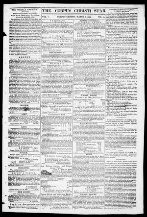 Primary view of object titled 'The Corpus Christi Star. (Corpus Christi, Tex.), Vol. 1, No. 24, Ed. 1, Saturday, March 3, 1849'.