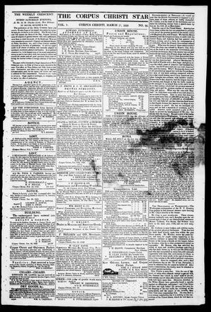 Primary view of object titled 'The Corpus Christi Star. (Corpus Christi, Tex.), Vol. 1, No. 26, Ed. 1, Saturday, March 17, 1849'.