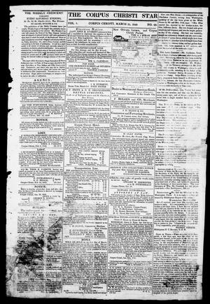 Primary view of object titled 'The Corpus Christi Star. (Corpus Christi, Tex.), Vol. 1, No. 28, Ed. 1, Saturday, March 31, 1849'.