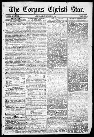 The Corpus Christi Star. (Corpus Christi, Tex.), Vol. 1, No. 48, Ed. 1, Saturday, August 18, 1849