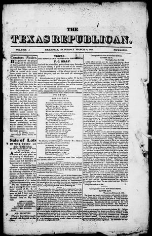 The Texas Republican. (Brazoria, Tex.), Vol. 1, No. 28, Ed. 1, Saturday, March 14, 1835