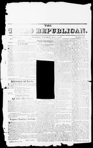 Primary view of object titled 'The Texas Republican. (Brazoria, Tex.), Vol. 1, No. 39, Ed. 1, Saturday, May 30, 1835'.