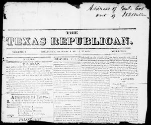 Primary view of object titled 'The Texas Republican. (Brazoria, Tex.), Vol. 1, No. 43, Ed. 1, Saturday, June 27, 1835'.