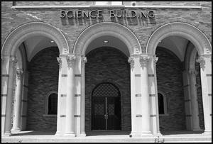 [Midwestern University Science Building close-up]