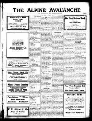 The Alpine Avalanche (Alpine, Tex.), Vol. 28, No. 2, Ed. 1 Thursday, January 17, 1918