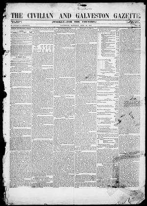 Primary view of object titled 'The Civilian and Galveston Gazette. (Galveston, Tex.), Vol. 9, Ed. 1, Saturday, June 26, 1847'.