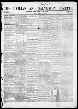 Primary view of object titled 'The Civilian and Galveston Gazette. (Galveston, Tex.), Vol. 10, Ed. 1, Friday, June 2, 1848'.