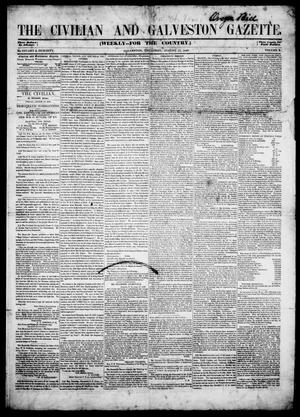 Primary view of object titled 'The Civilian and Galveston Gazette. (Galveston, Tex.), Vol. 10, Ed. 1, Thursday, August 17, 1848'.