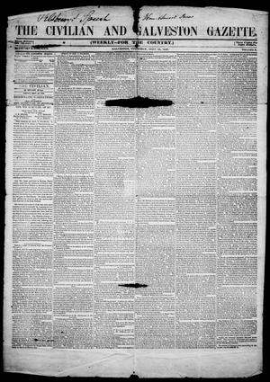 Primary view of object titled 'The Civilian and Galveston Gazette. (Galveston, Tex.), Vol. 10, Ed. 1, Thursday, September 28, 1848'.