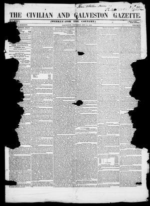 Primary view of The Civilian and Galveston Gazette. (Galveston, Tex.), Vol. 10, Ed. 1, Thursday, October 26, 1848