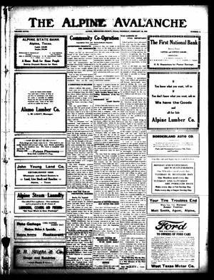 Primary view of The Alpine Avalanche (Alpine, Tex.), Vol. 28, No. 8, Ed. 1 Thursday, February 28, 1918