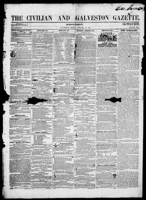 Primary view of object titled 'The Civilian and Galveston Gazette. (Galveston, Tex.), Vol. 13, Ed. 1, Friday, January 24, 1851'.