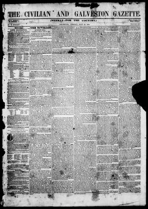 Primary view of object titled 'The Civilian and Galveston Gazette. (Galveston, Tex.), Vol. 13, Ed. 1, Tuesday, July 22, 1851'.