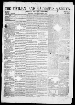 Primary view of object titled 'The Civilian and Galveston Gazette. (Galveston, Tex.), Vol. 13, Ed. 1, Tuesday, September 23, 1851'.