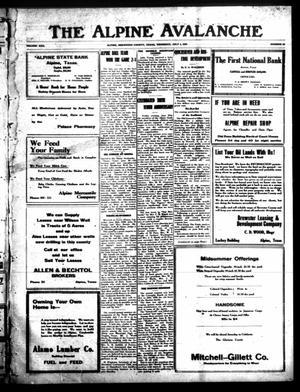 The Alpine Avalanche (Alpine, Tex.), Vol. 30, No. 26, Ed. 1 Thursday, July 1, 1920