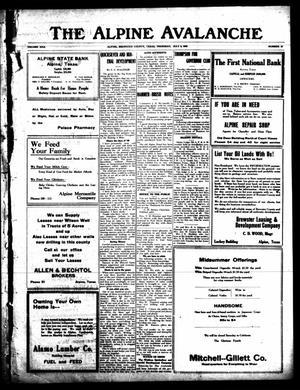 The Alpine Avalanche (Alpine, Tex.), Vol. 30, No. 27, Ed. 1 Thursday, July 8, 1920