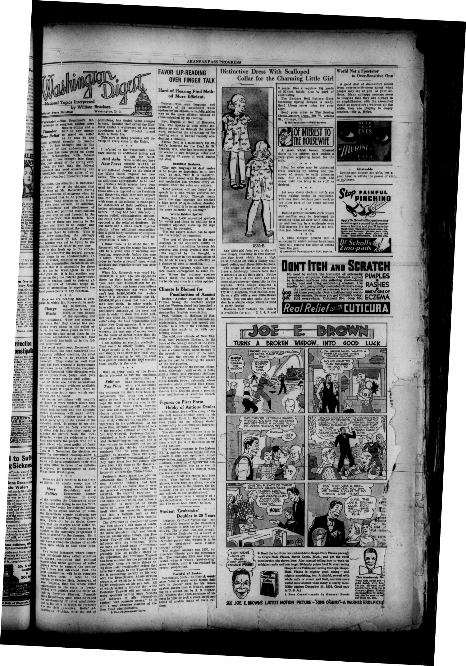 The Aransas Pass Progress (Aransas Pass, Tex.), Vol. 101, No. 52, Ed. 1 Thursday, April 2, 1936                                                                                                      [Sequence #]: 3 of 8