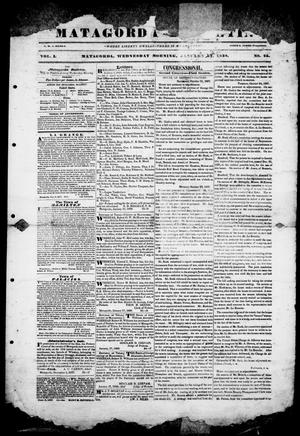 Primary view of object titled 'Matagorda Bulletin. (Matagorda, Tex.), Vol. 1, No. 25, Ed. 1, Wednesday, January 24, 1838'.