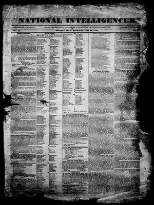 Primary view of object titled 'National Intelligencer. (Houston, Tex.), Vol. 2, Ed. 1, Thursday, June 20, 1839'.