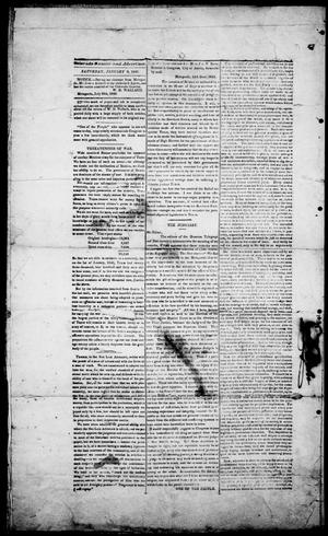 Primary view of object titled 'Colorado Gazette and Advertiser. (Matagorda, Tex.), Ed. 1, Saturday, January 9, 1841'.