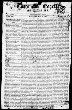 Primary view of Colorado Gazette and Advertiser. (Matagorda, Tex.), Vol. 3, No. 25, Ed. 1, Saturday, June 4, 1842