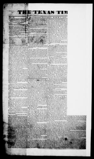 Primary view of The Texas Times. (Galveston, Tex.), Vol. 2, No. 10, Ed. 1, Saturday, March 4, 1843