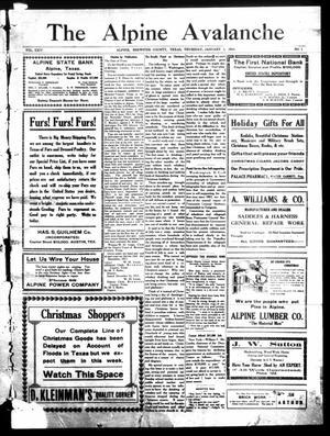 The Alpine Avalanche (Alpine, Tex.), Vol. 24, No. 1, Ed. 1 Thursday, January 1, 1914
