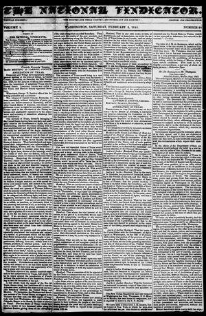 The National Vindicator. (Washington, Tex.), Vol. 1, No. 24, Ed. 1, Saturday, February 3, 1844