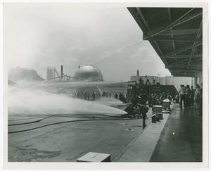 [Fighting a Fire at Texaco Refinery]