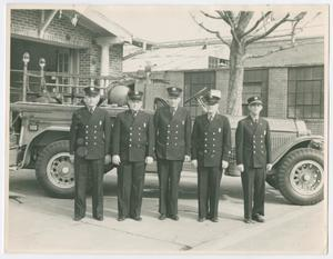 Primary view of object titled '[Firefighters at Fire Station 17]'.
