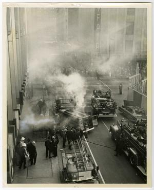 Primary view of object titled '[Street Outside Dallas Federal Savings & Loan Fire]'.