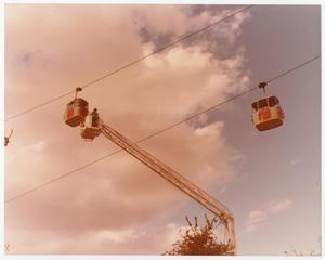 [Aerial Lift Crane Used to Reach Sky Tram Car]